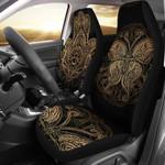 Gold Hansa Hand Mandala Pattern Printed Car Seat Covers
