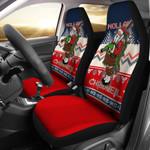 Scotland Celtic Christmas Scottish Santa Nollaig Chridheil Blue Printed Car Seat Covers