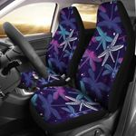 Dragonfly Dark Purple Night Color Printed Car Seat Covers