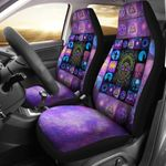 Printed Car Seat Covers Celtic Tree Of Life Halloween Style