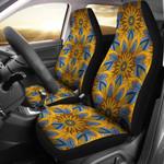 Yellow Mandala Hindu Pattern Printed Car Seat Covers