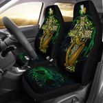 Ireland Coat Of Arms With Celtic Cross Printed Car Seat Covers