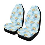Angel Musician Pattern Blue Sky Printed Car Seat Covers