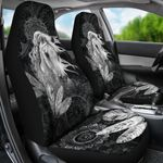 Free Spirit Horse Grey And Black Pattern Printed Car Seat Covers