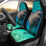 Dolphin Zipper Ocean Beauty Printed Car Seat Covers