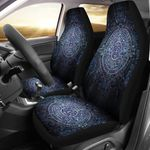 Aztec Symbol Blue Design Printed Car Seat Covers
