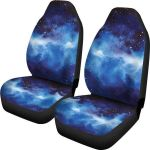 Dark Blue Galaxy Space Printed Car Seat Covers