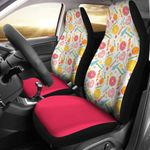 Candy Sweet Kingdom Love Printed Car Seat Covers