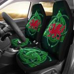 Dragon Wales With Celtic Symbol Printed Car Seat Covers
