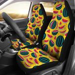 Watermelon Pattern Yellow Background Printed Car Seat Covers