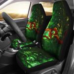 Celtic Dragon With Green Man And Deer Printed Car Seat Covers