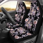 Dahlia Into The Wild Design Printed Car Seat Covers