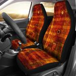 Steampunk Clock Yellow And Brown Printed Car Seat Covers