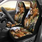 Horse Lover Funny Faces Printed Car Seat Covers