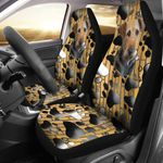 Airedale Terrier Dog With Paws Design Printed Car Seat Covers