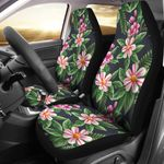 Summer Floral Pink And Green Pattern Printed Car Seat Covers