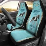 Horses First On Light Blue Background Printed Car Seat Covers