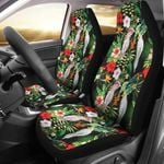 Tropical Flower Pattern And Parrot Printed Car Seat Covers