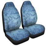 Acid Wash Denim Jeans Pattern Printed Car Seat Covers