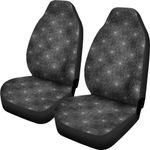 Spider Web Grey And Black Printed Car Seat Covers