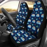 Camper Pattern Camping Themed Design Printed Car Seat Covers