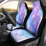 Galaxy Stardust Pastel Color Design Printed Car Seat Covers