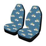 Angel Pattern Dark Blue Polka Dot Printed Car Seat Covers
