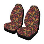 Bat Red And Yellow Pattern Printed Car Seat Covers