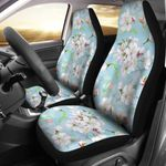 Apple Blossom Flowers In Pale Blue Printed Car Seat Covers