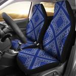 Royal Blue Bandana Diamond Printed Car Seat Covers