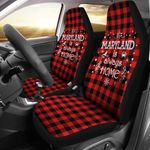 Maryland Is Always Home Printed Car Seat Covers