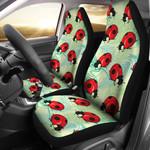 Ladybug Cute Animal On Leaves Design Printed Car Seat Covers