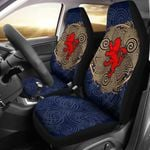 Celtic Scottish Lion Rampant Triple Spiral Printed Car Seat Covers