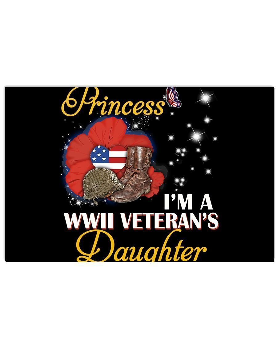 I M Not Just A Princess I M A Wwii Veteran S Daughter Gifts Horizontal Baten Store
