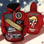 Fleece All-Over Hoodie - All Aboard The Trump Train 2020 MAGA We The People