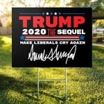 Trump The Sequel Signature Red Flag Yard Sign
