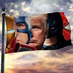 Trump Superhero Flag