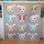 Dogs CLA1410174Q Quilt Blanket