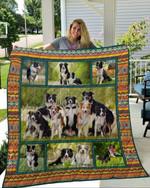 Border Collie CL11110051MDQ Quilt Blanket