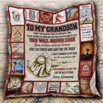 Baseball Grandson, Love, Grammy CL19100080MDQ Quilt Blanket