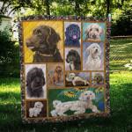 Labradoodle Sunflower CL10100170MDQ Quilt Blanket