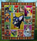 Chihuahua Dog CL28100412MDQ Quilt Blanket