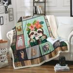 Sloth CL170856MD Sherpa Fleece Blanket