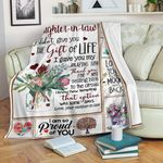 To My Daughter In Law Mom CL11110152MDF Sherpa Fleece Blanket