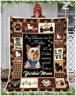 Yorkshire Terrier Yorkie Mom CL29110958MDF Sherpa Fleece Blanket