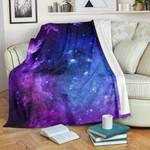 Purple Galaxy Space Blue Starfield CLH0111488F Sherpa Fleece Blanket