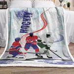 Hockey DD0210140F Sherpa Fleece Blanket