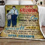 From Grandpa To Grandson CL301066MDF Sherpa Fleece Blanket