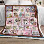 Cute Owl CL270995MDF Sherpa Fleece Blanket