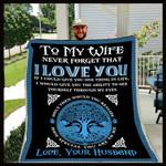 To My Wife Tree Of Life CL30100576MDF Sherpa Fleece Blanket